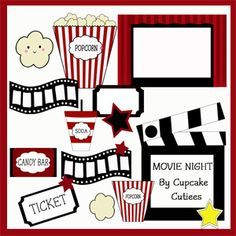 Kids Movie Night Clipart Flyer BIdeasB On  Flyer