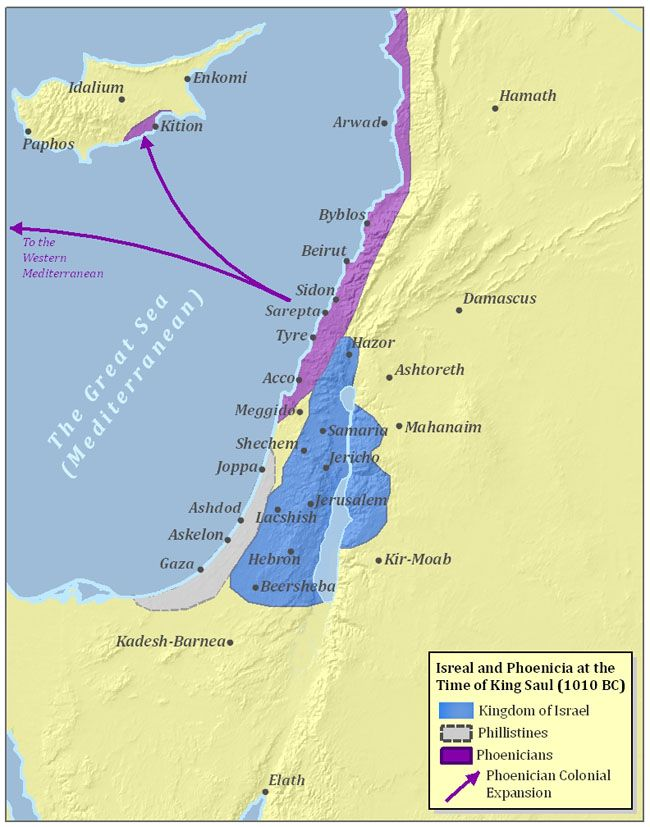 Ancient israel and phoenicia 1010 bc old world maps charts ancient israel and phoenicia 1010 bc gumiabroncs Choice Image