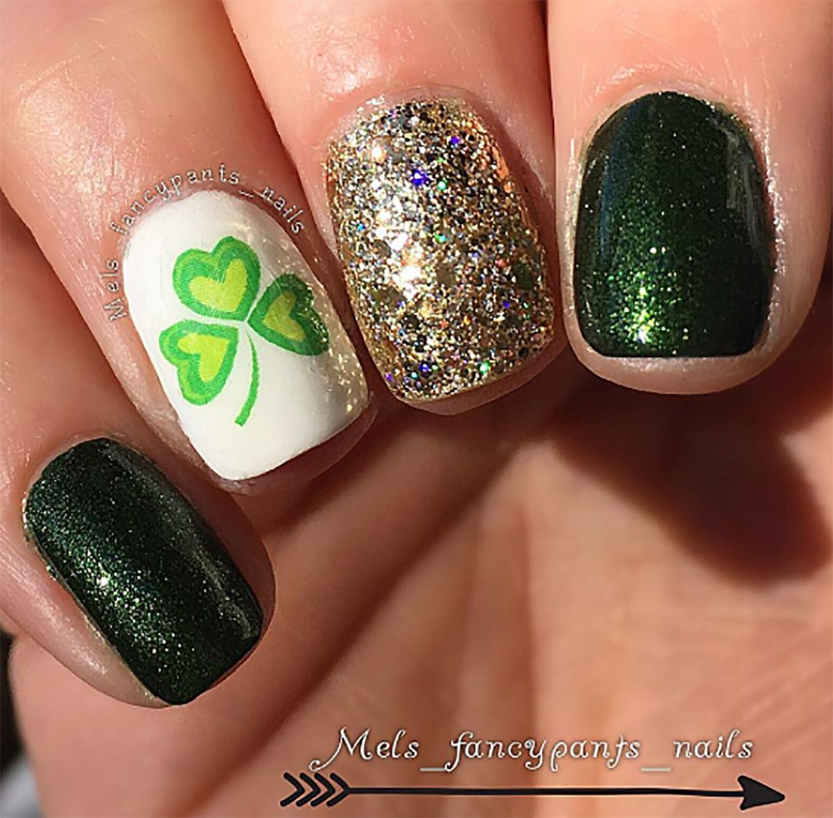 St. Patrick\'s Day Nail Art Decals Set #1 | Nail decals, Leaf clover ...