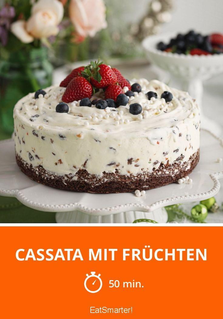 Cassata mit Früchten - Diese Torte kannst du mit wenigen Zutaten und ganz ohne Zucker zubereiten.