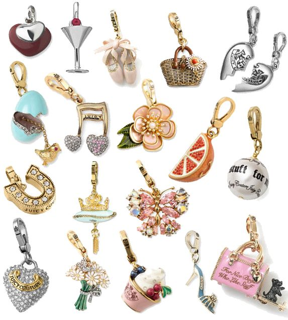 36350eb66f4 Juicy Couture Charms. So cute & detailed... maybe a lil overpriced &  impractical/ too big to wear... but I can't stop buying them :p