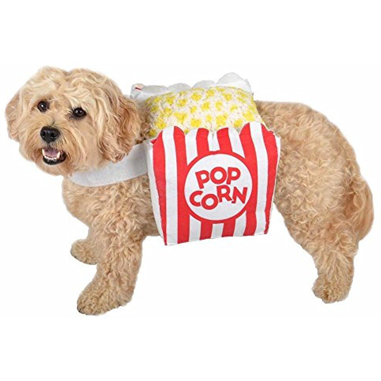 Popcorn Dogs Halloween Pet Costume Red/White (XLarge