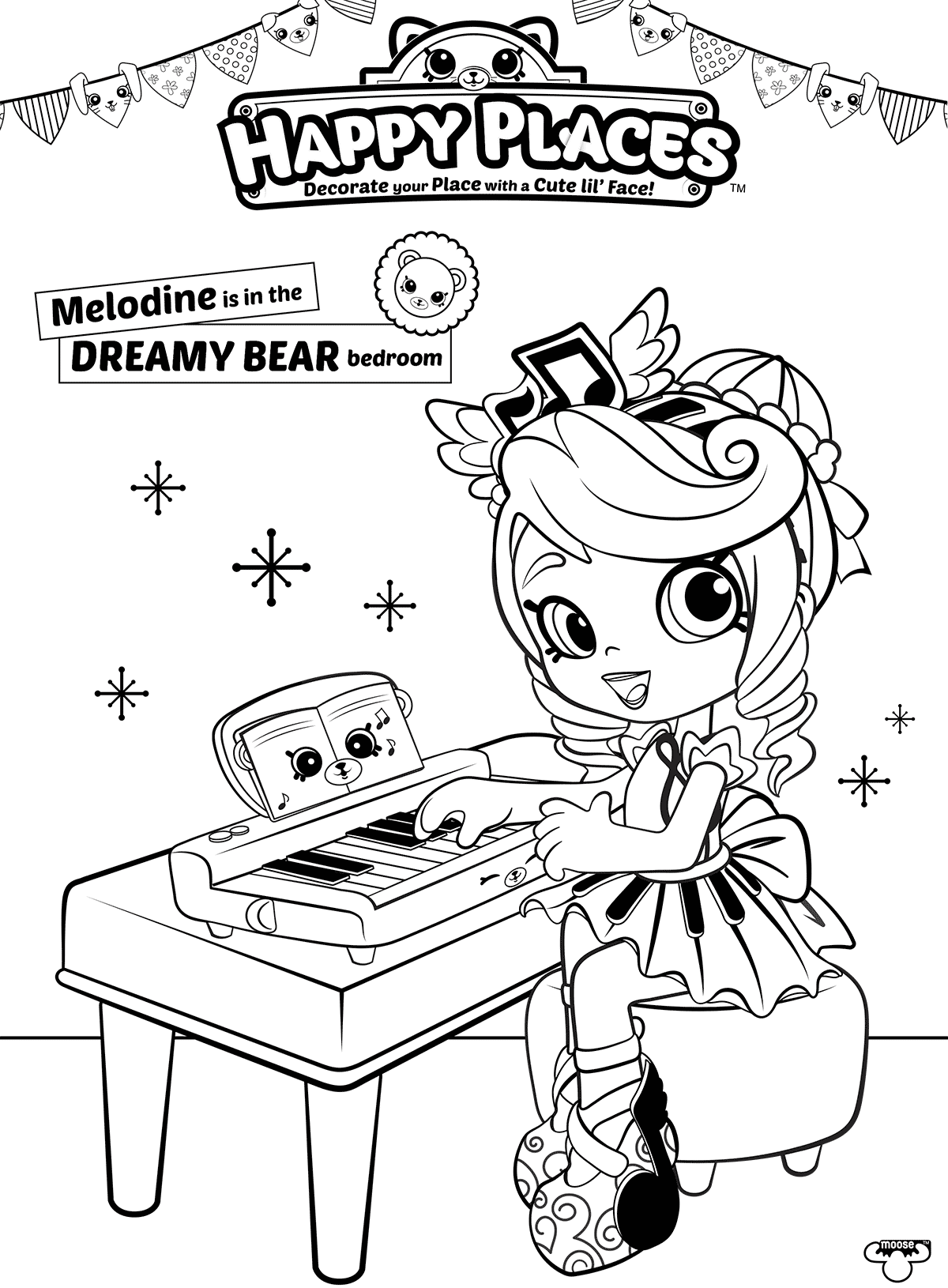 Melodine shoppies coloring pages