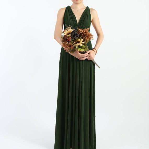 Forest grünen langen Stock Länge Ball Gown Infinity von AtomAttire ...