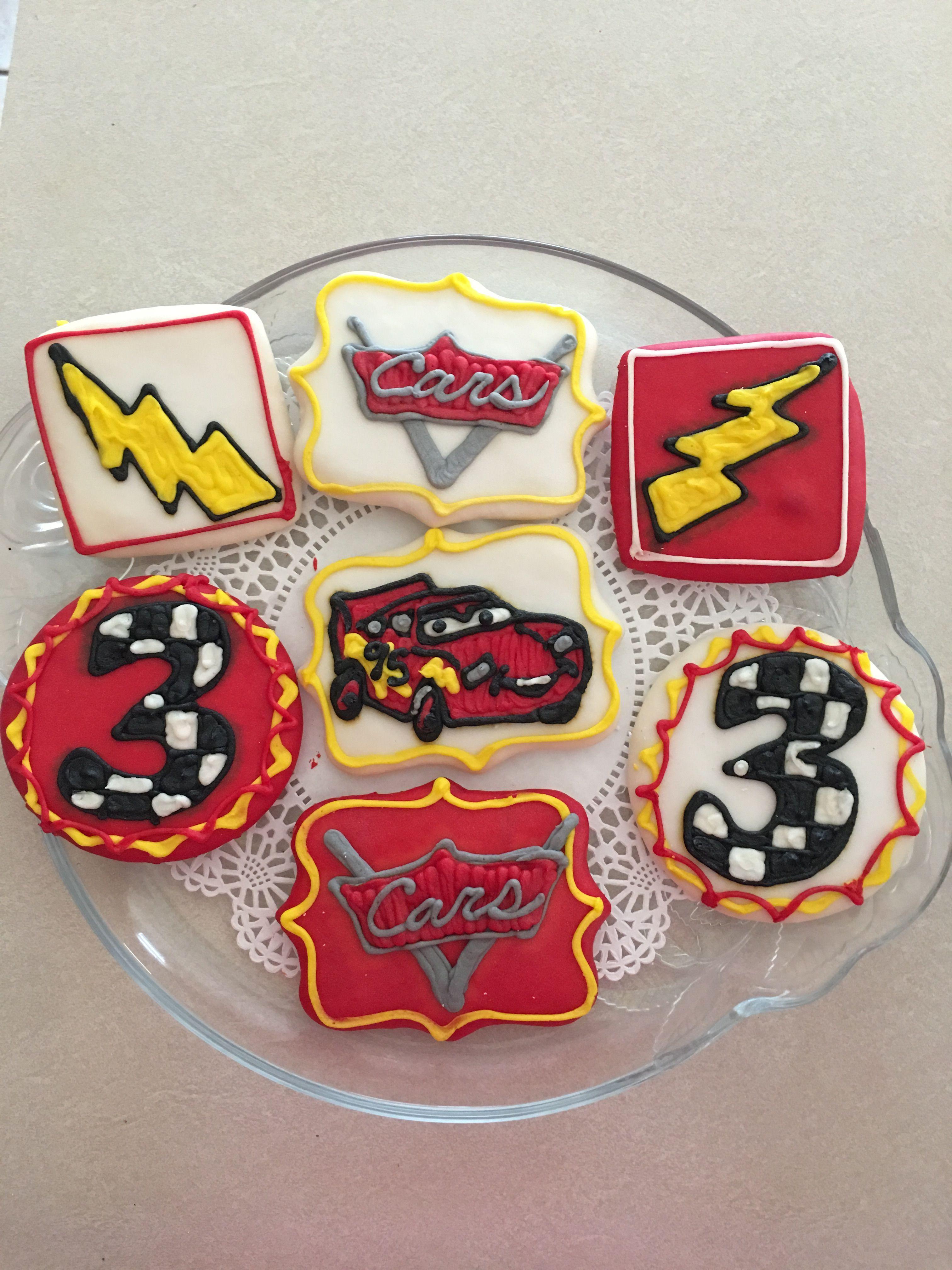 Disney Cars Brysons 3rd Bday Party Sugar Cookies Thank U Savannah
