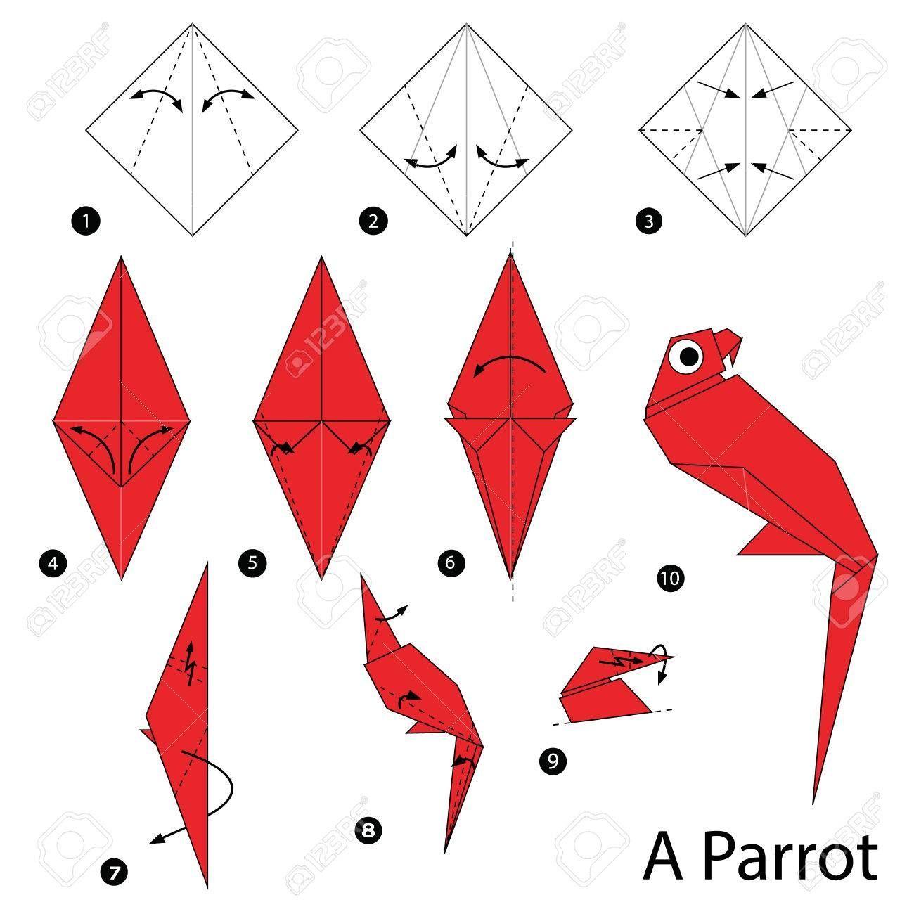 Photo of Schritt für Schritt Anleitung, wie man Origami A Parrot macht – Origami