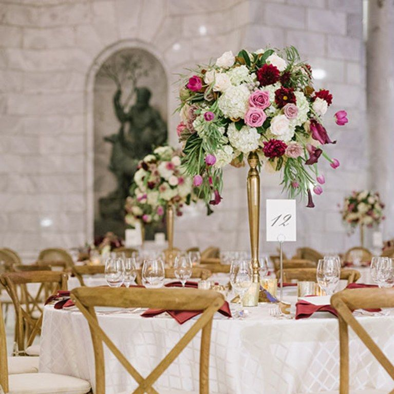 Elegant Fall Table Arrangements: An Elegant Fall-Hued Wedding In Salt Lake City