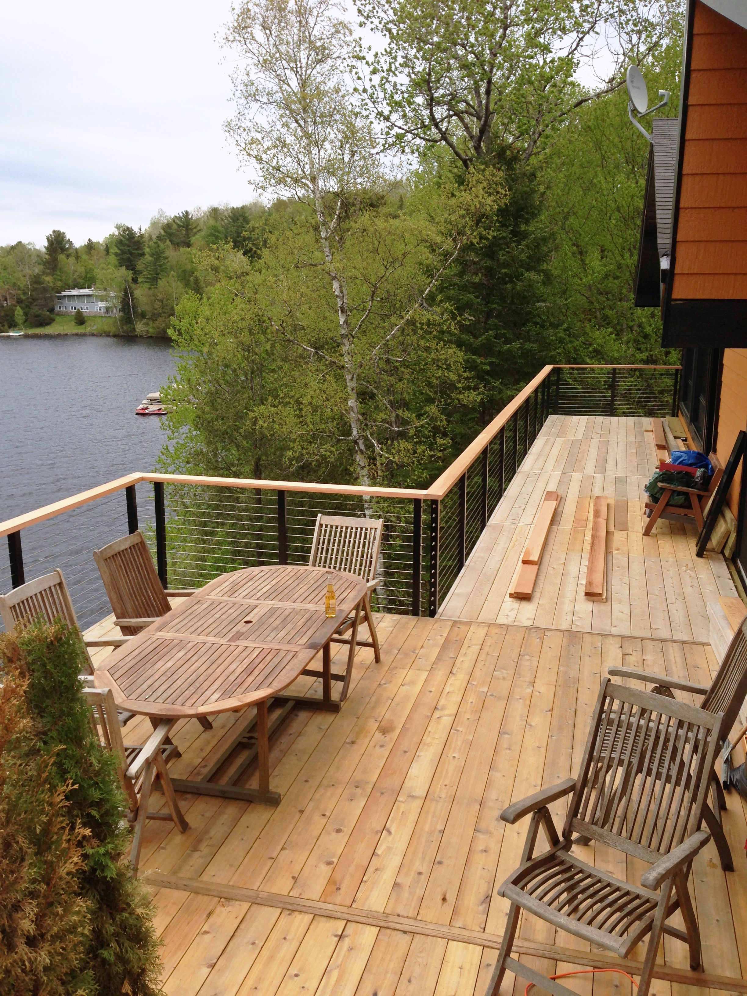lake house in montreal canada elevated deck update with. Black Bedroom Furniture Sets. Home Design Ideas