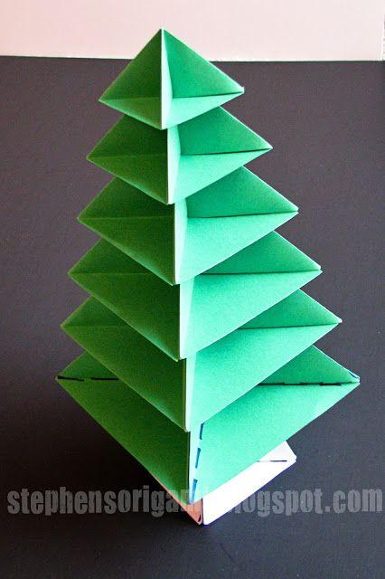 stephens origami origami christmas tree tutorial - How To Make An Origami Christmas Tree