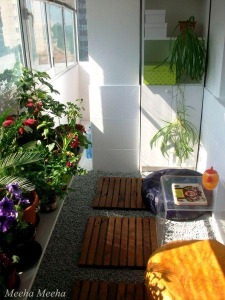 Inspiration Files Enclosed Balcony Turned Zen Garden From Meeha Meeha After Small Backyard Gardens Small Balcony Garden Patio Decor