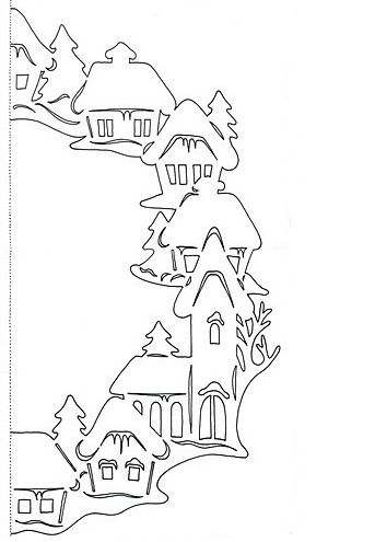 Новогодние окна своими руками из бумаги на окна фото 370