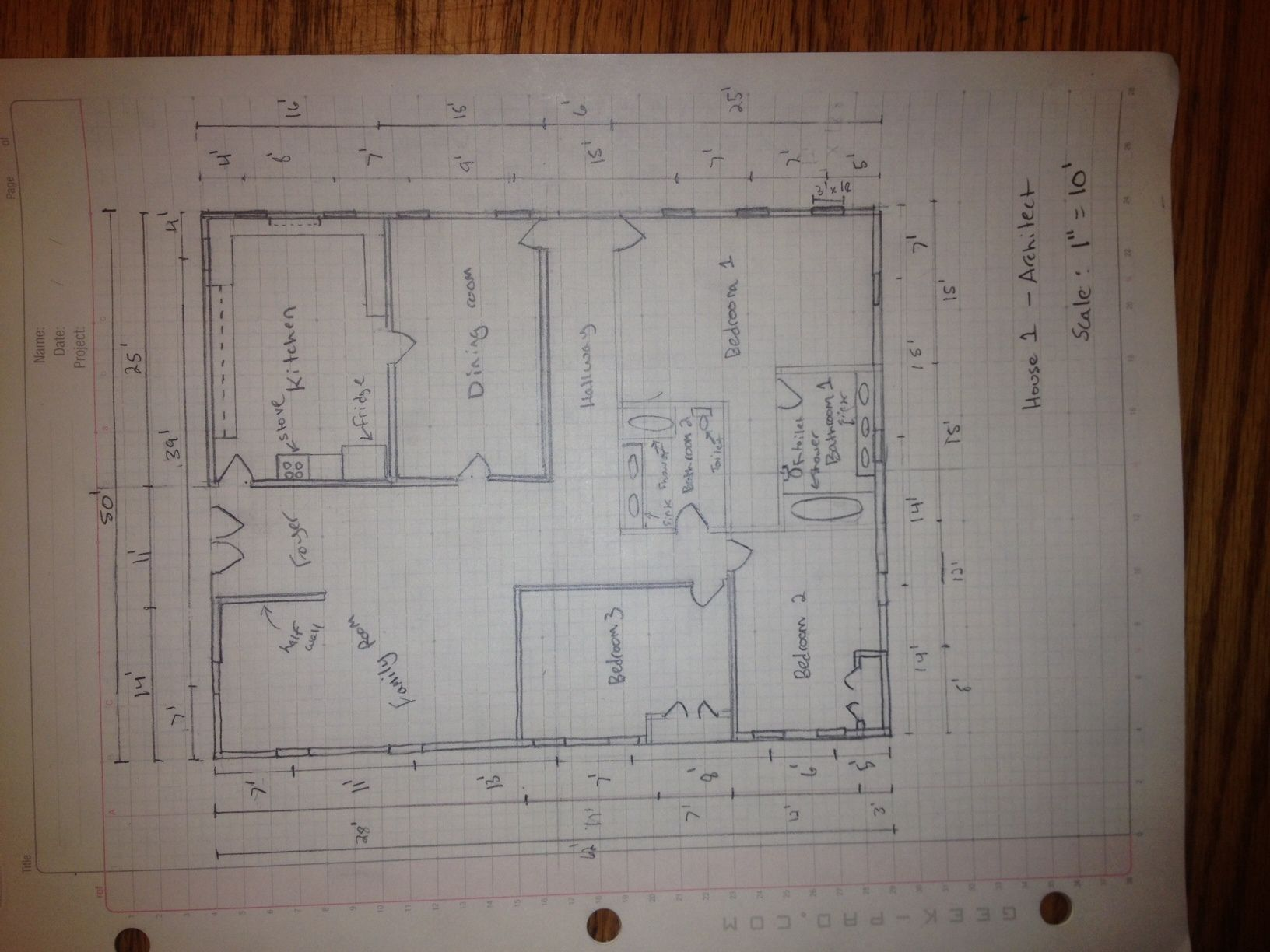 How To Manually Draft A Basic Floor Plan Simple Floor Plans Floor Plan Sketch Floor Plans