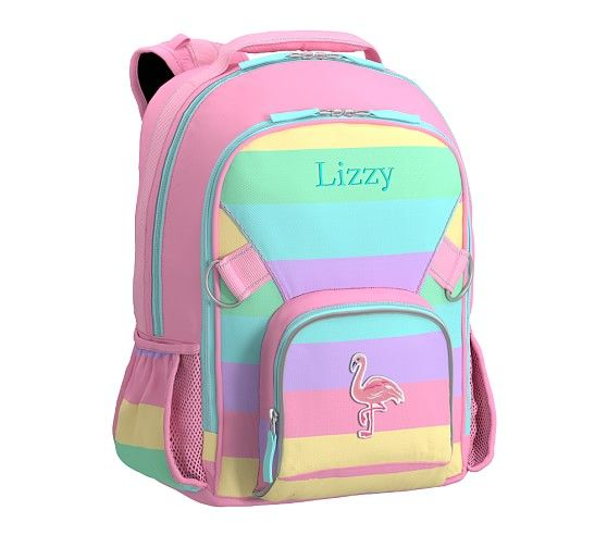 Fairfax Pastel Pink Rainbow Stripe Backpack With Images