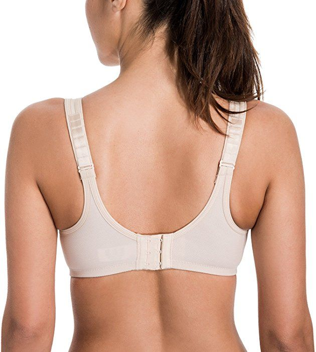 13e894c4dd SYROKAN Women s Max Control Solid High Impact Plus Size Underwire Sports Bra  Beige 34C at Amazon Women s Clothing store