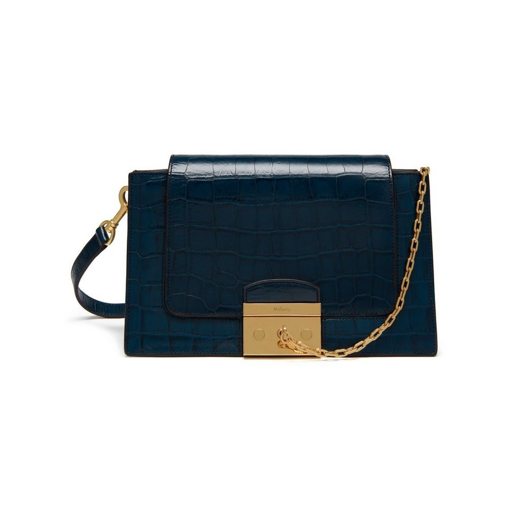 Shop the Pembroke in Navy Croc Print Leather at Mulberry.com. The Pembroke  is 07664031c3f6a