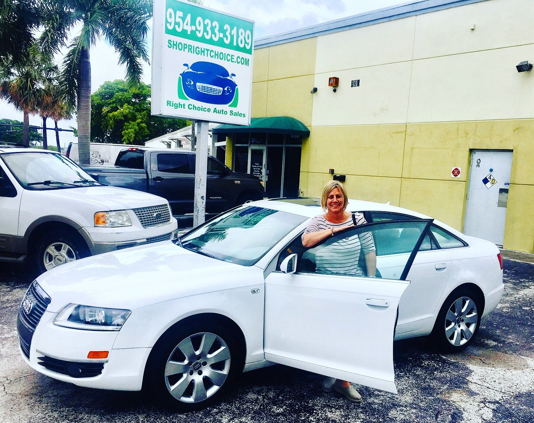 Another Happy Customer At Right Choice Auto Sales In Pompano Beach Fl Irma Bought This Like New 2007 Audi A6 3 2 Quatt Cars For Sale Pompano Beach Used Cars