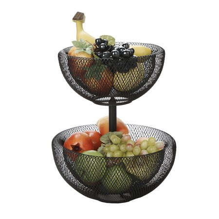 This Bronze Wire Two Tier Fruit Bowl Is A Unique Product Featuring