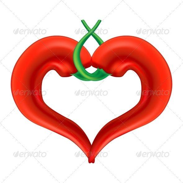 Chili Pepper Heart | Pepper, Symbols and Template