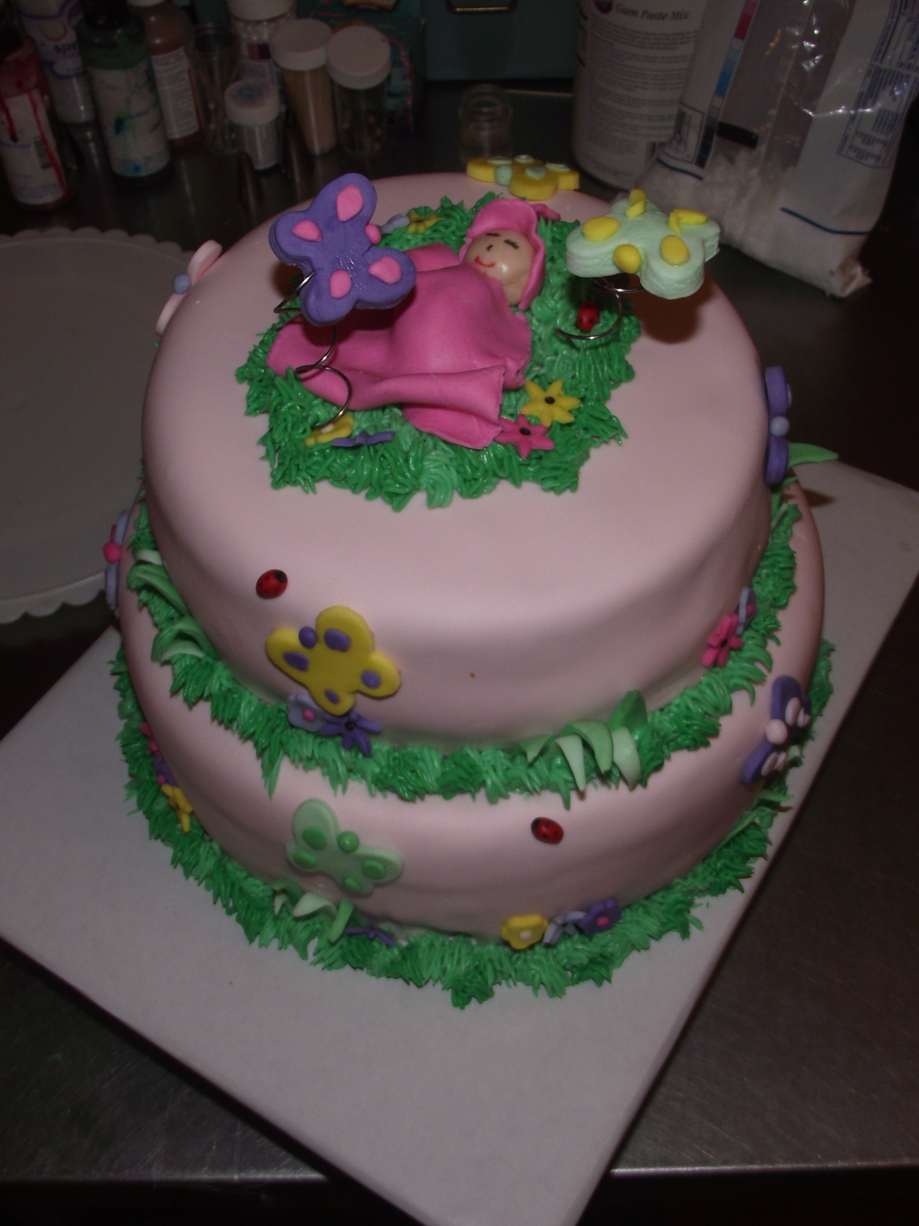 butterfly baby shower cake my cakes pinterest