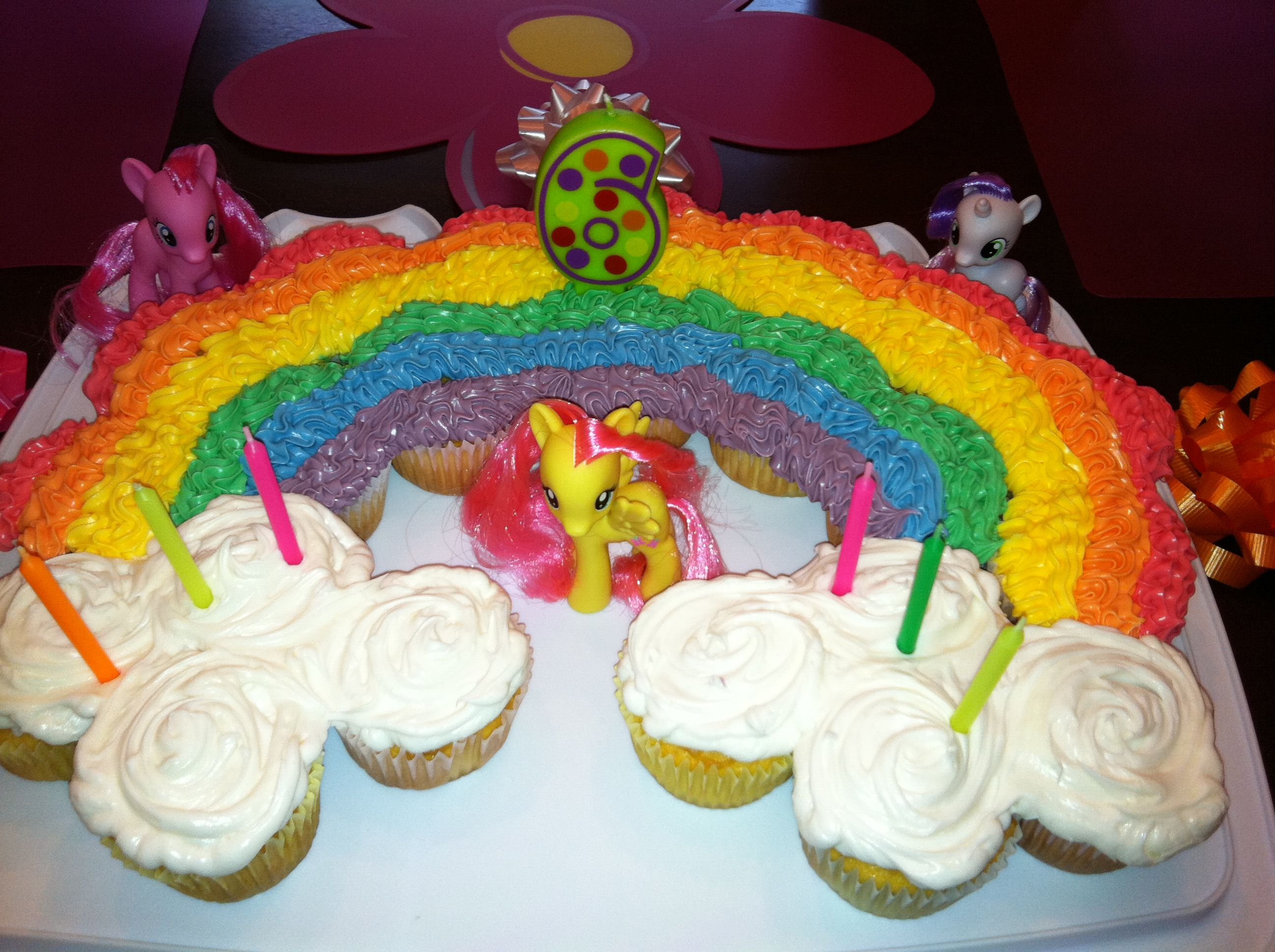 Rainbow Cupcake Cake Pinterest Inspired Pinterest