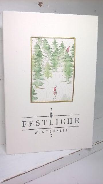 Http Einfachardt Blogspot De 2016 11 Von Drauen Vom Walde Komm Ich Her Html Grusskarten Weihnachten Weihnachtskarten Karten Handgemacht