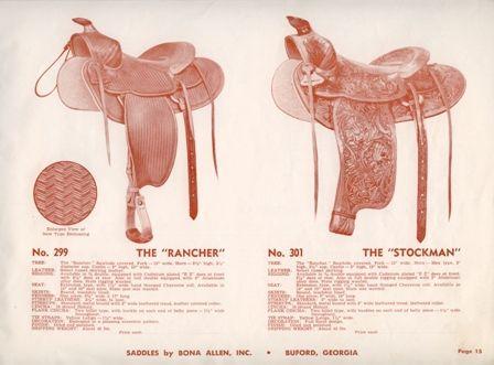 Bona Allen Catalog | Vintage Saddles and Makers | Saddles