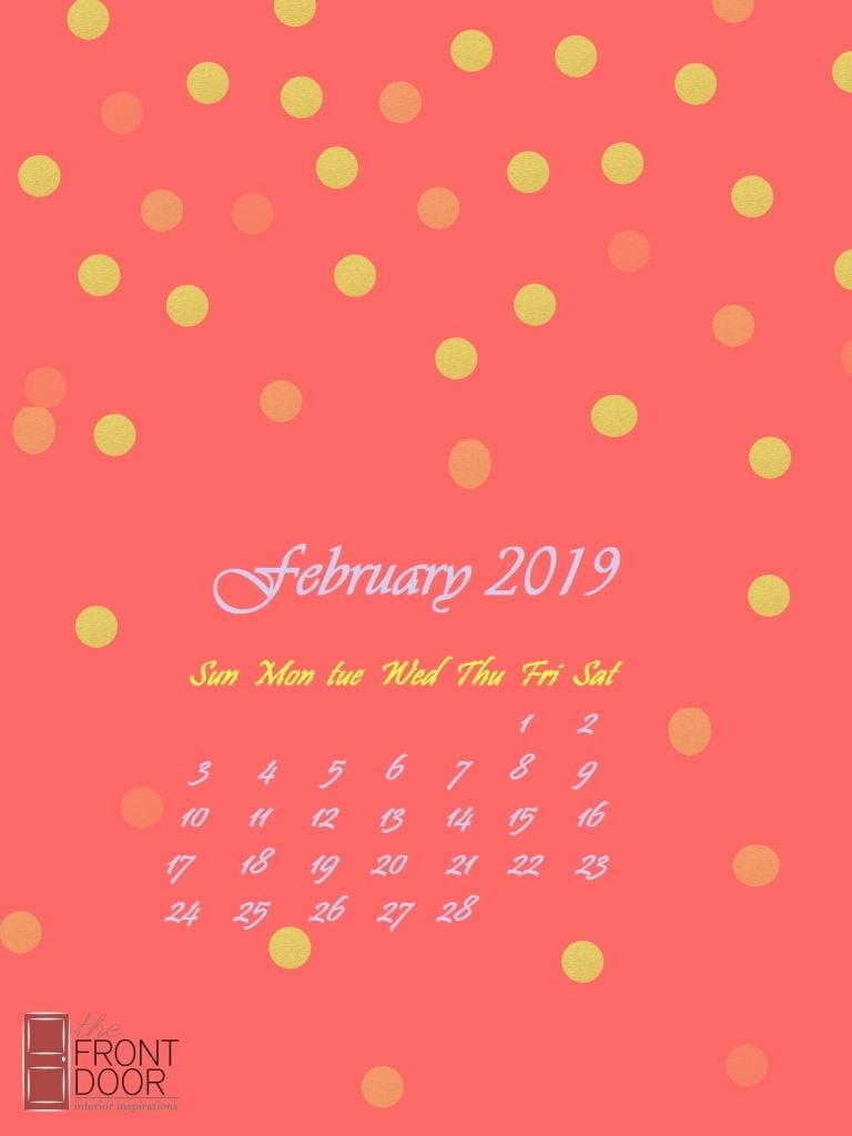 February 2019 Iphone Calendar Wallpaper With Images Calendar