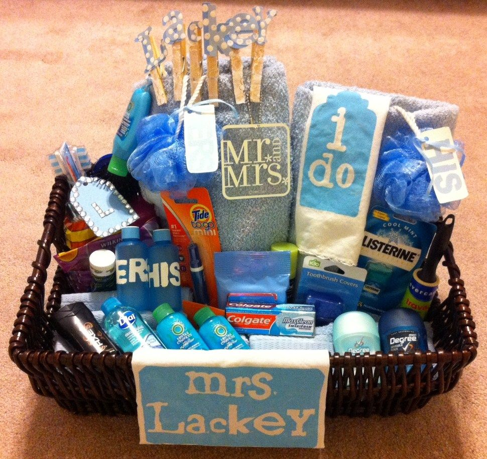 "Gift Basket For Bride And Groom Wedding Night: It's A ""Honeymoon Basket"" !!!"