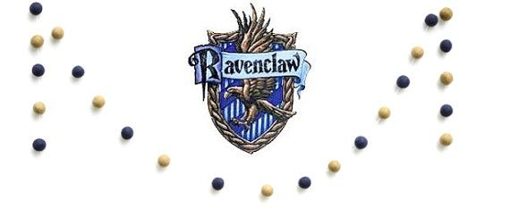 Ravenclaw Navy & Bronze Wool Felt Ball Garland- Free Gift w/ purchase- Harry Potter Party- Hogwarts School House Colors