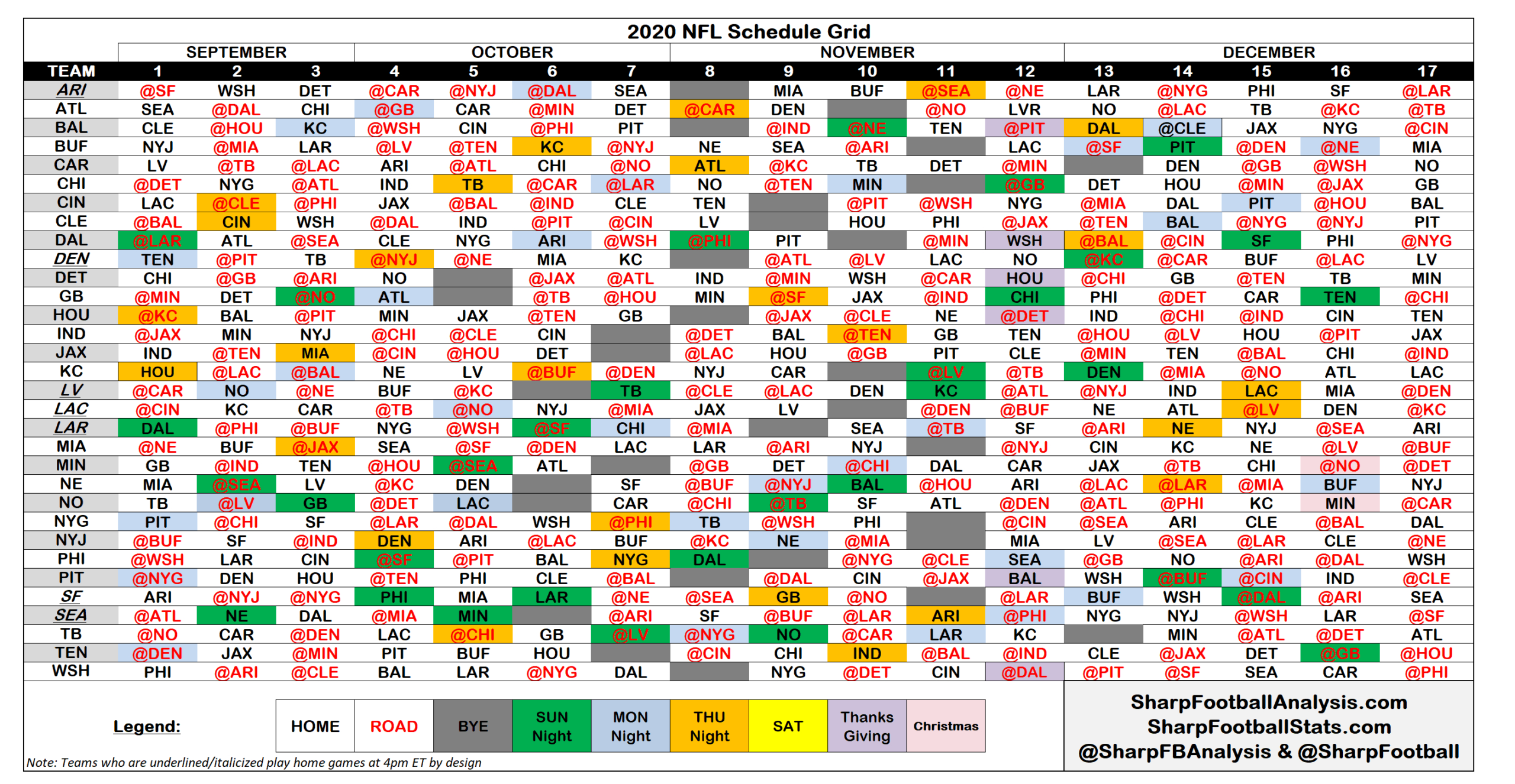 Nfl Calendar 2022.2020 Nfl Regular Season Schedule Grid Amp Strength Of Schedule Inside 2021 Printable Nf In 2021 Printable Nfl Schedule Printable Calendar Template Nfl