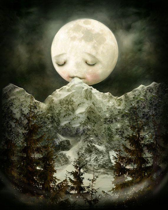 Midnight On The Moon Illustrations