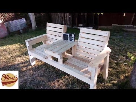 I Needed A Nice Seat In My Garden To Relax So I Made This Bench With Some Minimal Tools And Some Recla Chair Bench Wood Bench Outdoor Outdoor Furniture Chairs