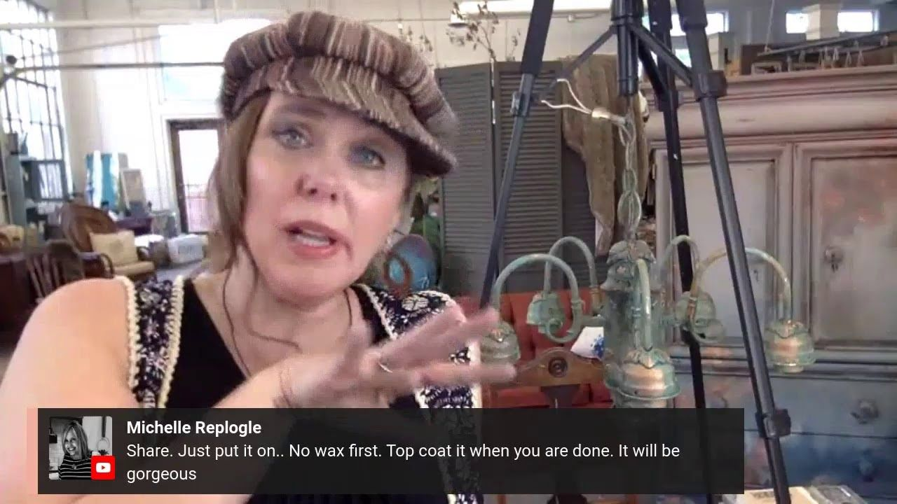 How To wax your flea market find Chandelier with multiple layers