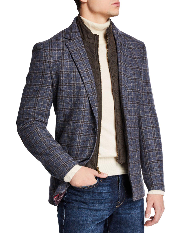 English Laundry Men S Zip Out Bib Butler Plaid Blazer Englishlaundry Cloth Blazer Plaid Blazer Suiting [ 1500 x 1200 Pixel ]