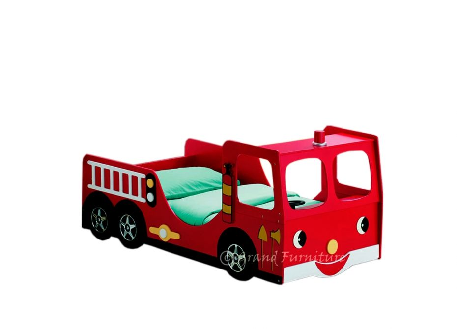 Childrens Kid Toddler Novelty Red Fire Engine Bed Click To Buy
