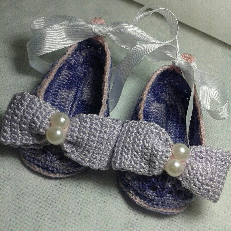 Zapatos lila perlas