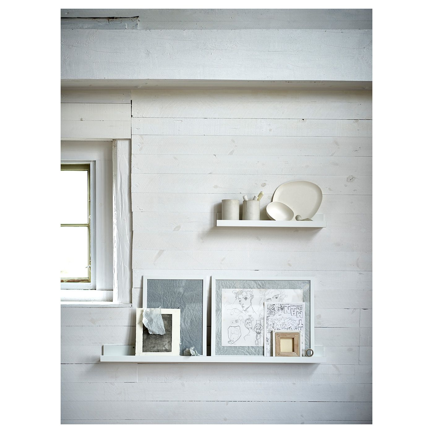 """Cavalletti Per Quadri Ikea mosslanda picture ledge - white 45 ¼ """" (con immagini)   idee"""