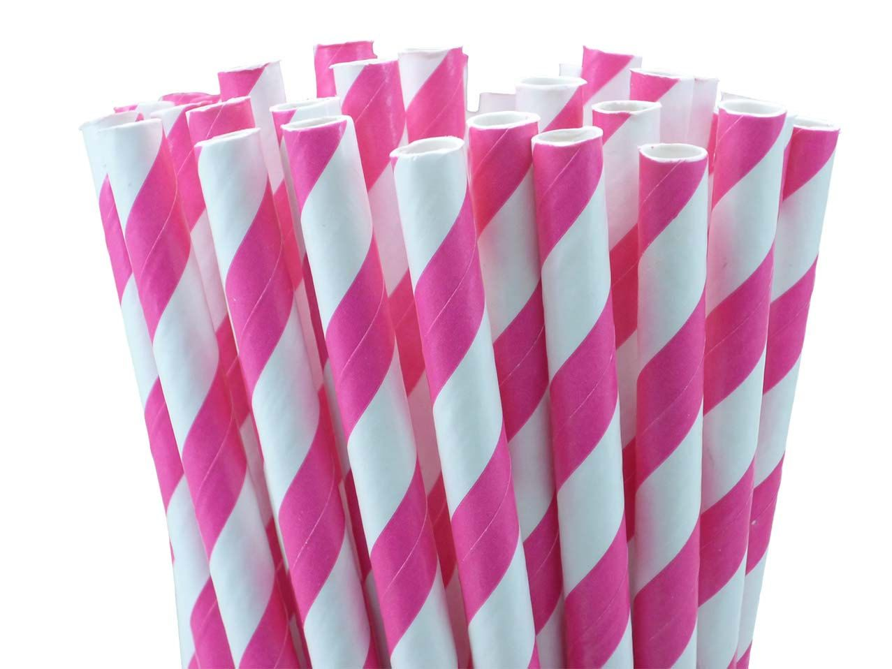 Bubble Gum Stripe Straws w/DIY Party Flags. $4.00, via Etsy.
