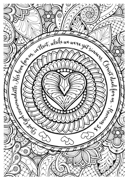 FREE Printable Adult Coloring Sheets W Bible Verses Everyone Says It Is A Great Stress Reliever The Finished Projects Always Look So Pretty And I Have