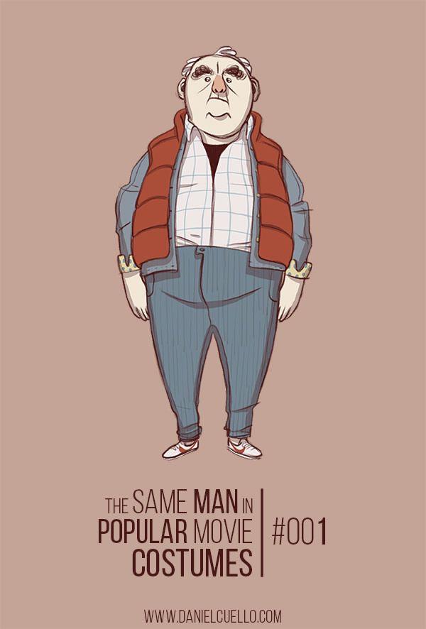 Wer kennt die Filme könnt ihr sie nennen? #nerd #fun The Same Man in Popular Movie Costumes
