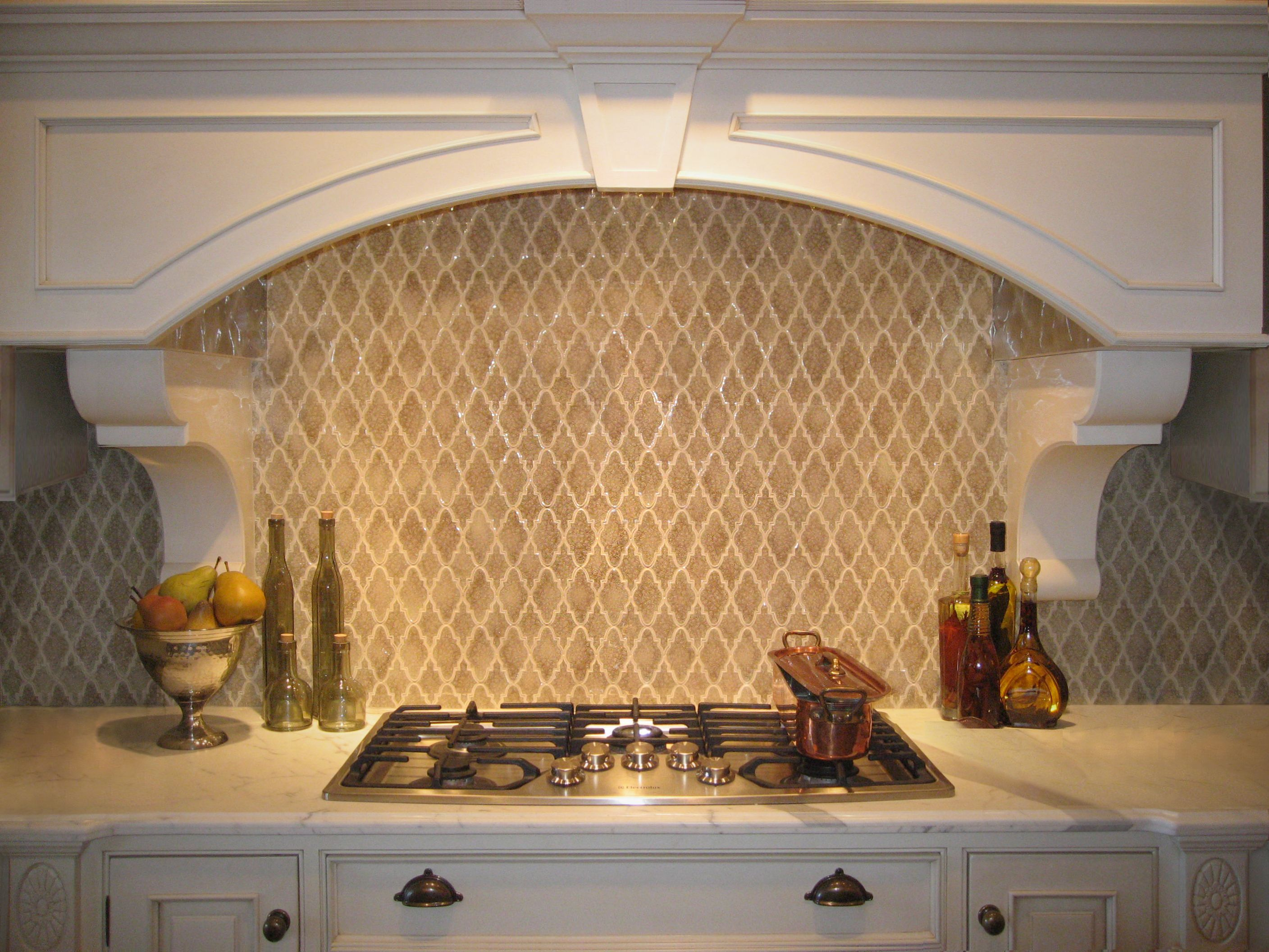 kitchen backsplash mosaic kitchen backsplash Encore Ceramics Arabesque Mosaic hand glazed in Martini jewel Sustainably made in Oregon Backsplash IdeasKitchen