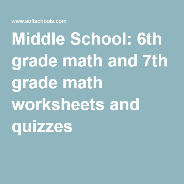 Middle School: 6th grade math and 7th grade math worksheets and ...