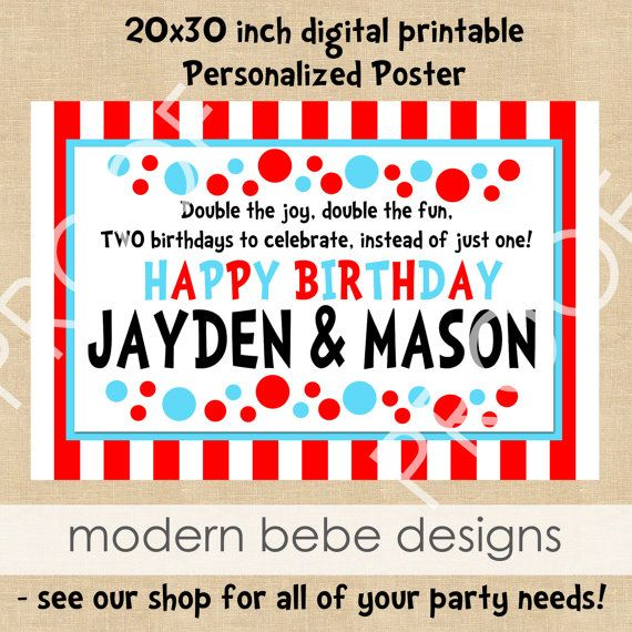 birthday banner/poster, costco can print 20x30s for cheap. | party, Birthday invitations
