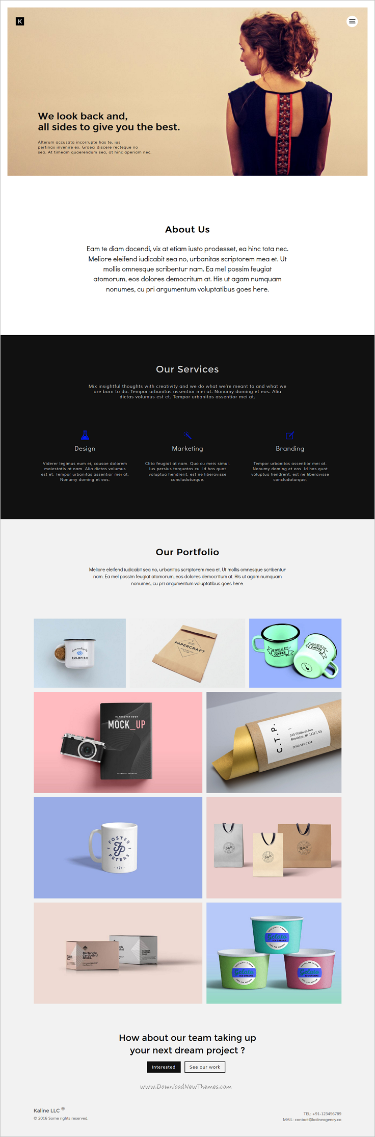 kaline is a minimal and clean design #Bootstrap #theme for ...