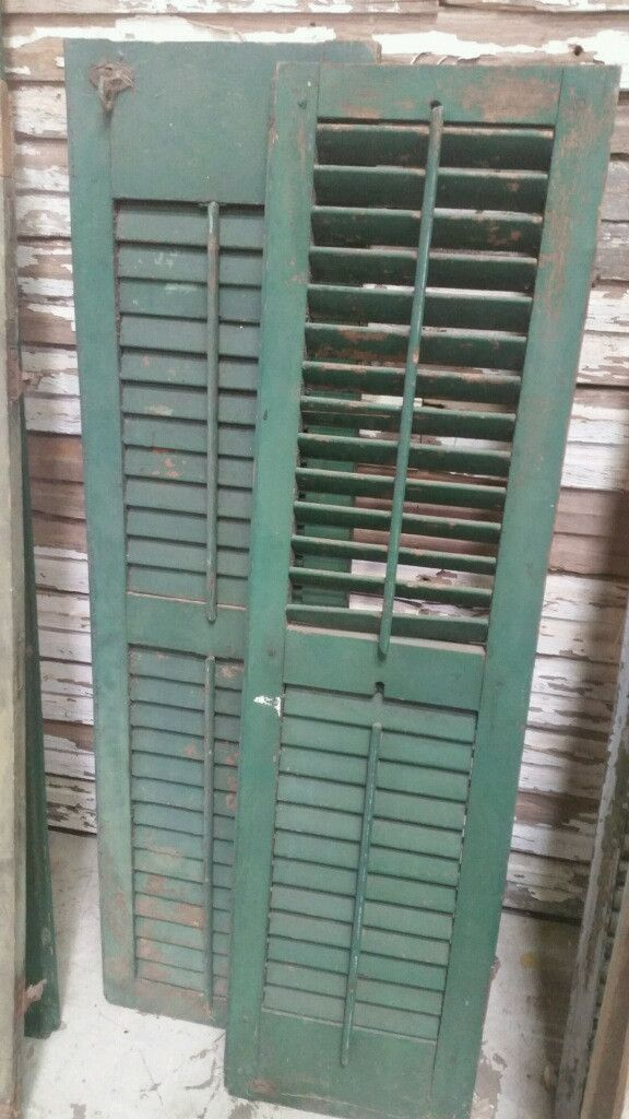 Green Antique Window Shutter Interior Home Window Shutters Antique Windows Shutters