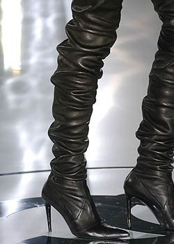Chanel Black Boots Fall 2005