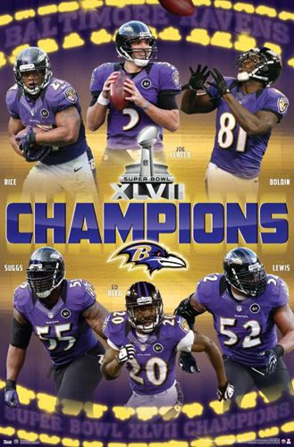 Baltimore Ravens Super Bowl XLVII (2013) Champions Poster - Costacos Sports 19dd06694