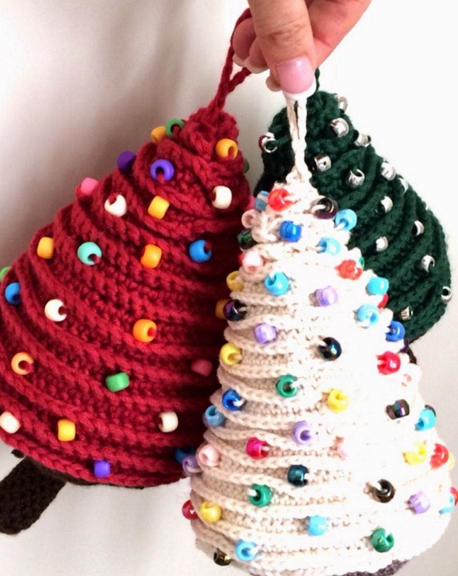 French knitting christmas tree ornaments crochet christmas trees french knitting christmas tree ornaments bankloansurffo Choice Image