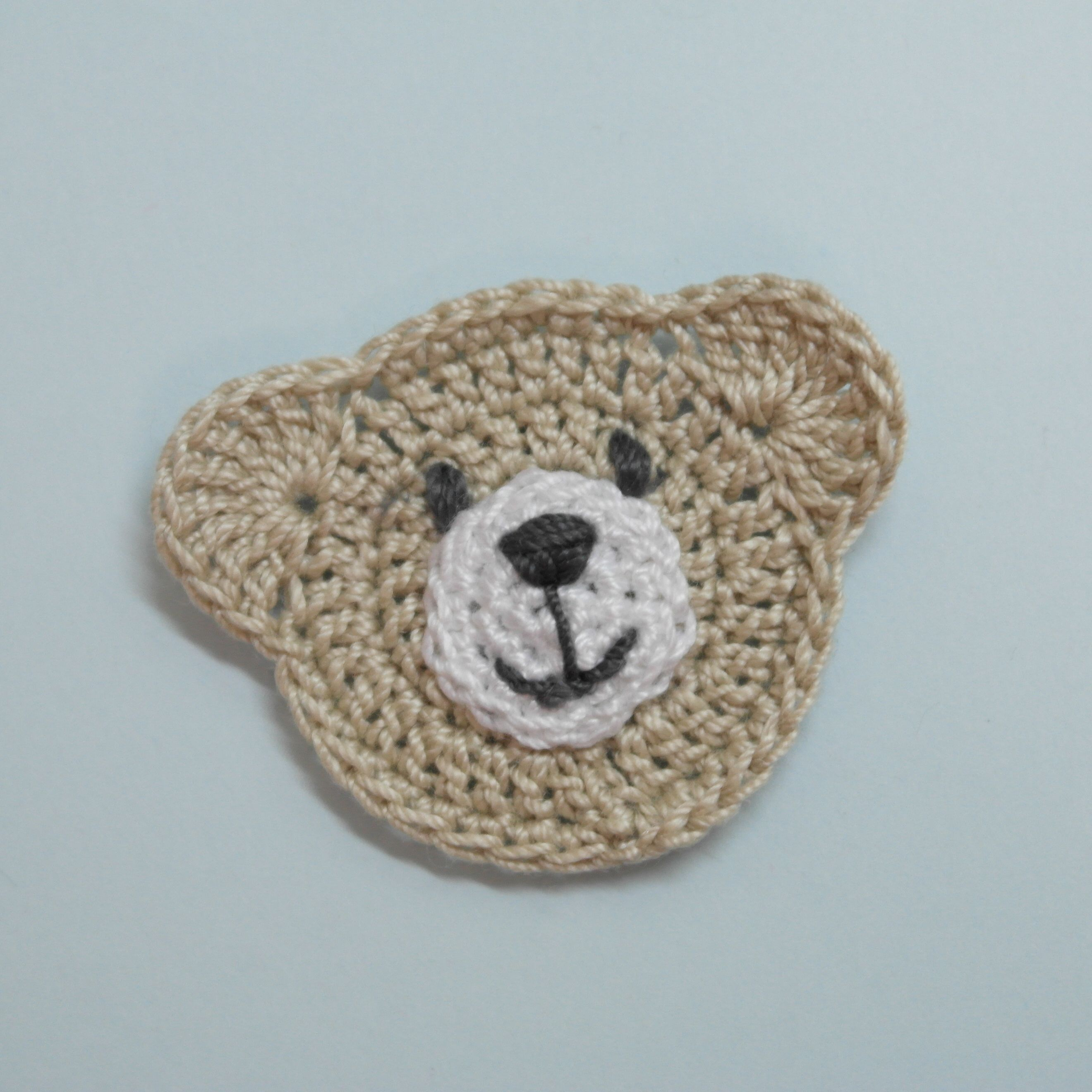 Make a Cute Crocheted Teddy Bear Application | Crochet | Pinterest ...