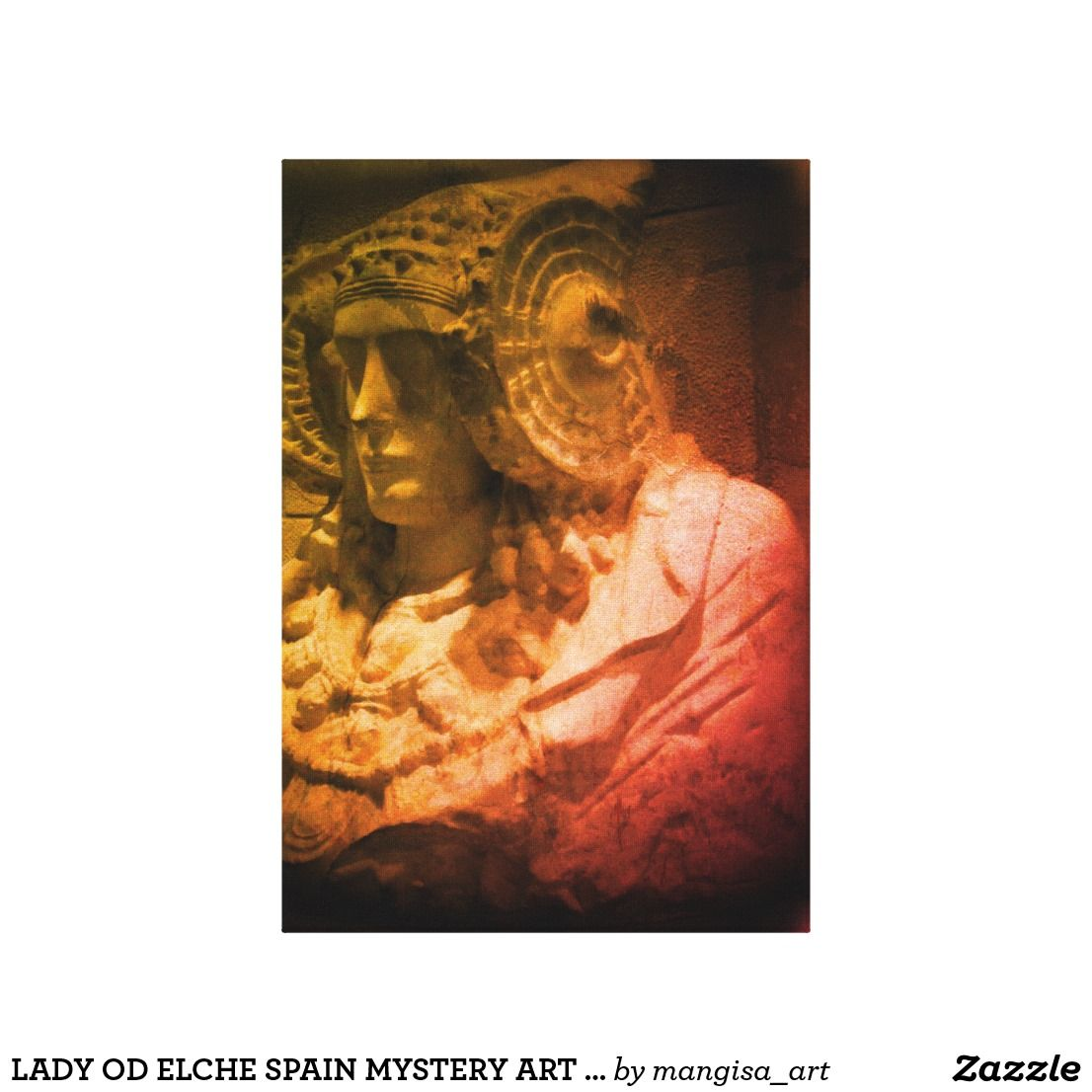 LADY OD ELCHE SPAIN MYSTERY ART CANVAS